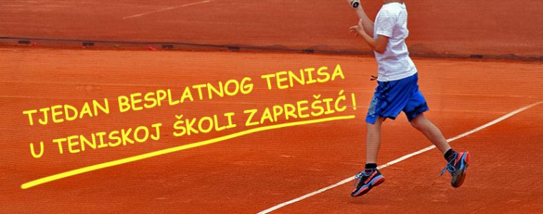 Tjedan besplatnog tenisa u teniskoj školi Zaprešić!